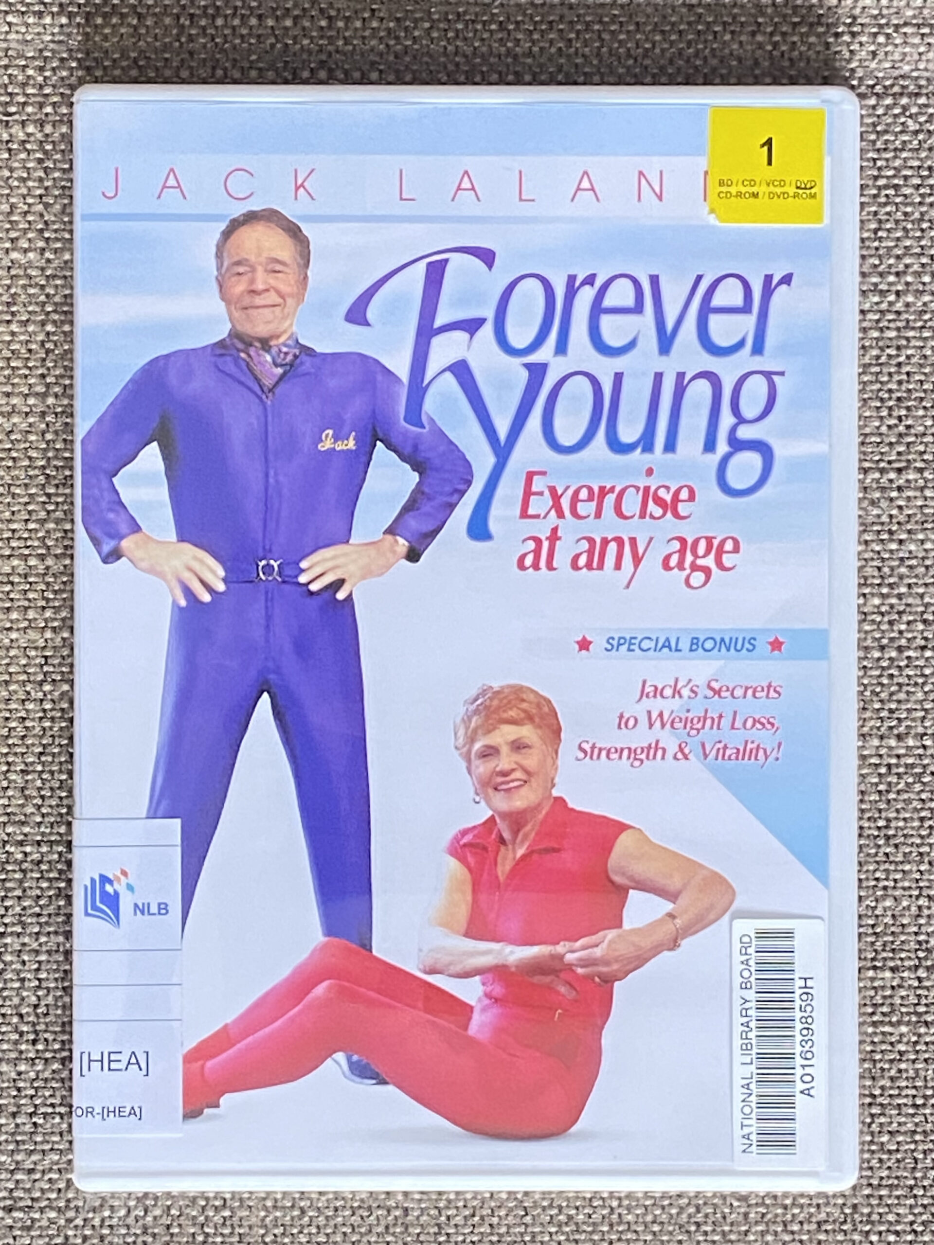 Jack Lalanne Forever Young Exercise DVD